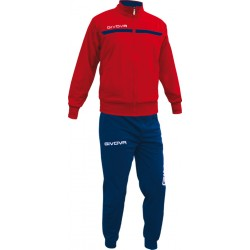 Tracksuit Givova One Full Zip/Red-Navy