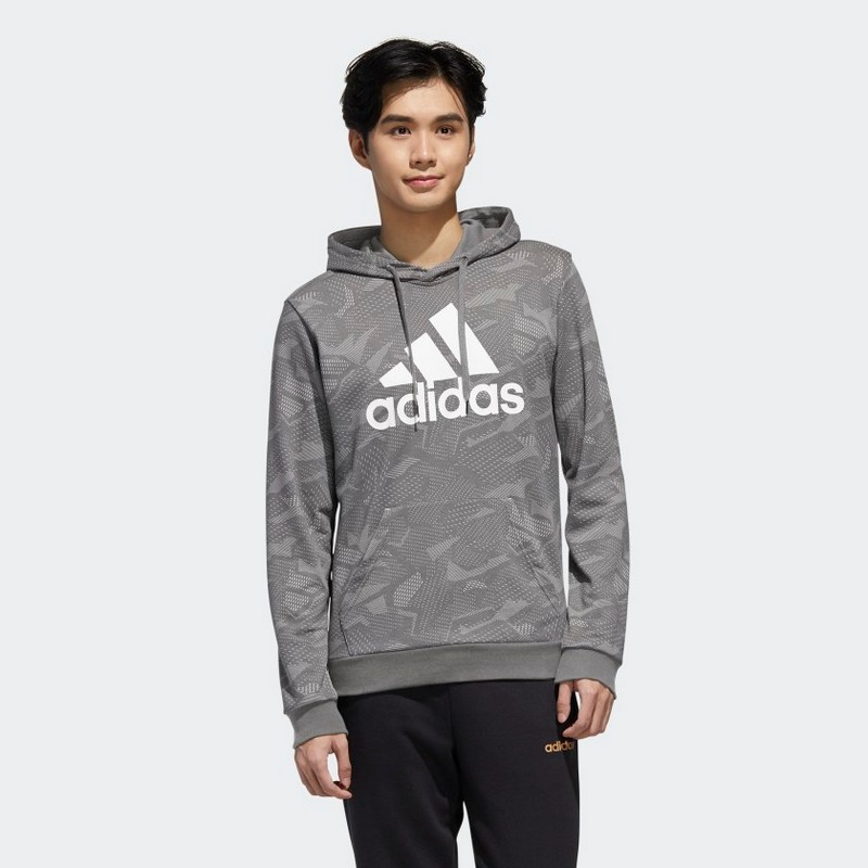 Adidas Essentials Allover Print Hoodie