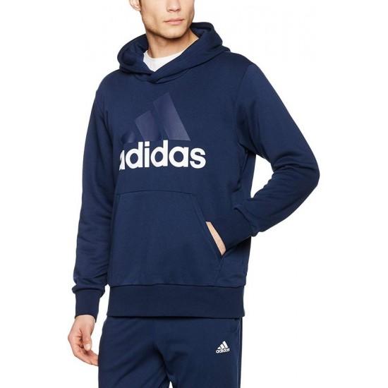 Adidas Essentials Linear Pullover Hoodie - Blue