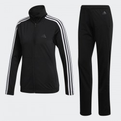 Adidas Women Track Suit Training Back 2 Basics 3-stripes Black Gym