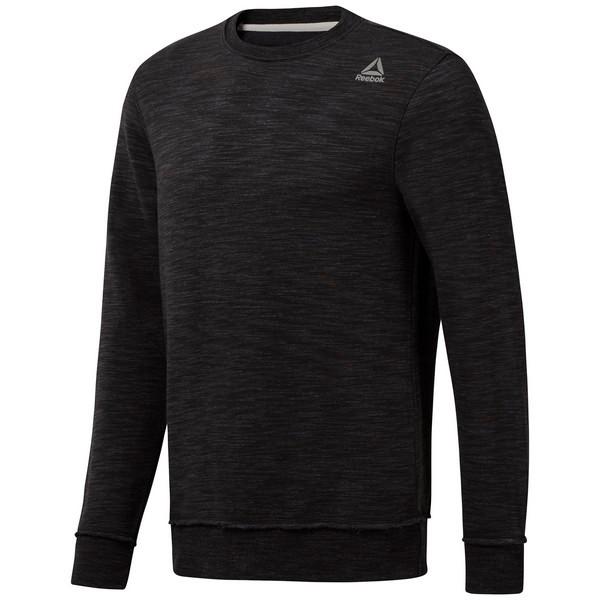Reebok Elements Marble Melange Crew Sweatshirt - Black
