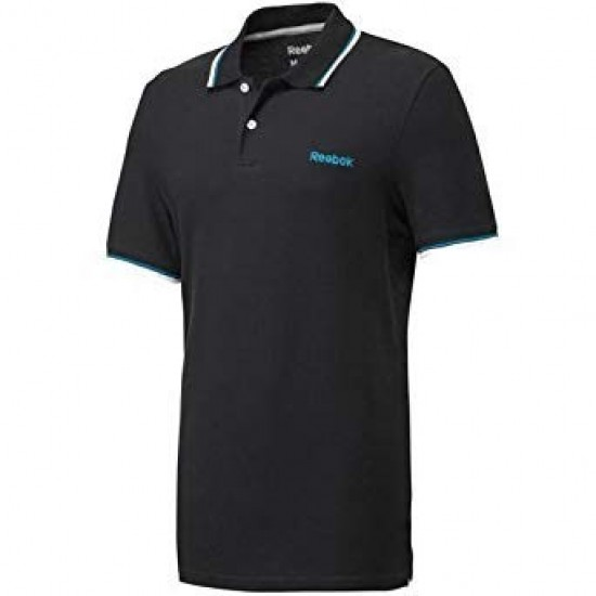 Reebok Men's Black Polo T-Shirt