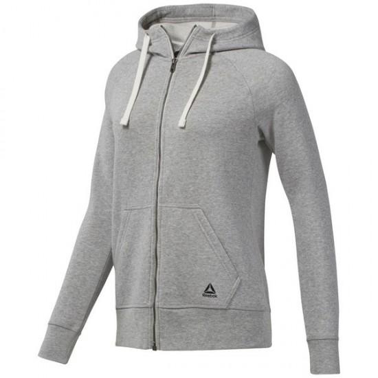 Reebok Training Essentials Fleece Full Zip Hoodie - Grey