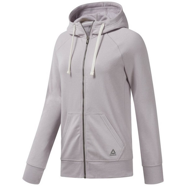 Reebok Training Essentials Full-Zip Hoodie - Purpl...